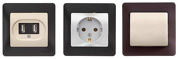Розетки и выключатели серии Glossa Schneider Electric